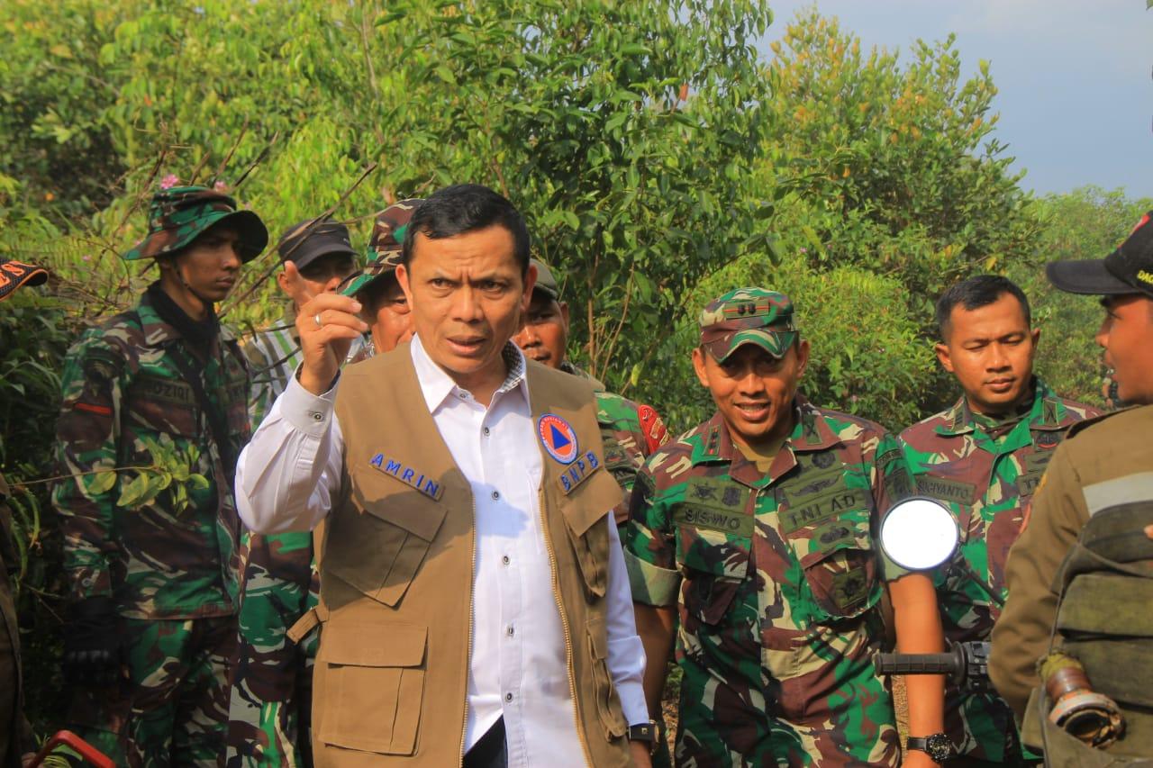 TNI Tegaskan, Akan Beri Sangsi Kepala Pelaku Pembakaran Hutan dan Lahan Di Gambut 1