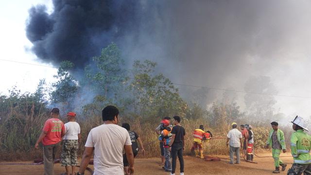 Permukiman dan Mesjid Di Sungai Ulin Nyaris dilalap api 5
