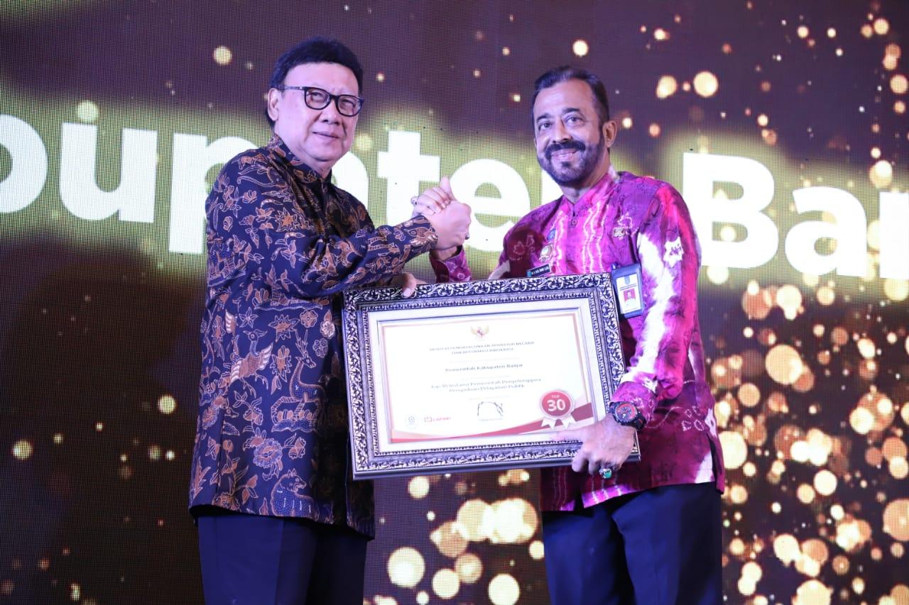 Kabupaten Banjar Raih Penghargaan Top 30 Dari MenPANRB 3