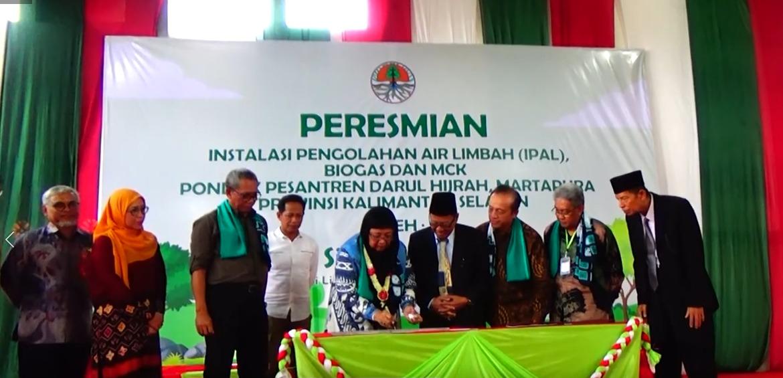 Menteri LHK RI Resmikan Bantuan IPAL Di Ponpes Darul Hijrah Putra 33