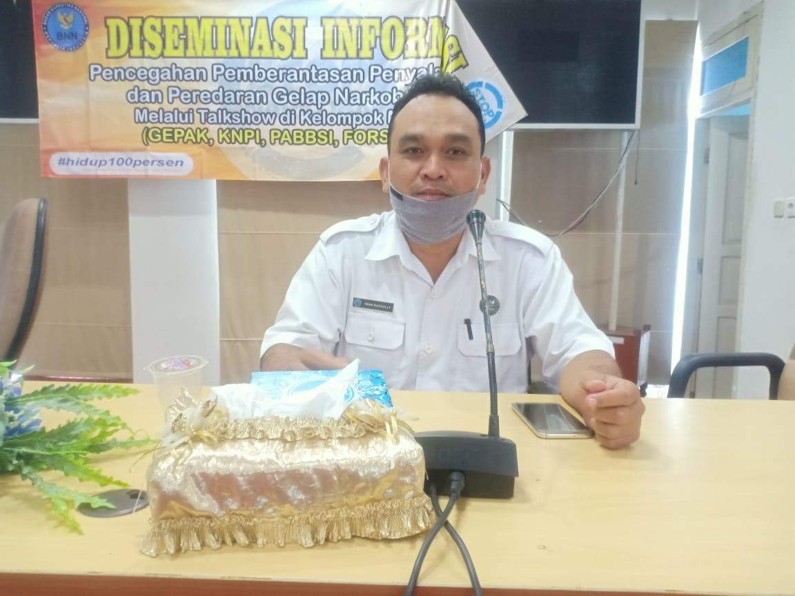 BNN Kabupaten Balangan lakukan kegiatan (P4GN) melalui talk show di kelompok masyarakat 5