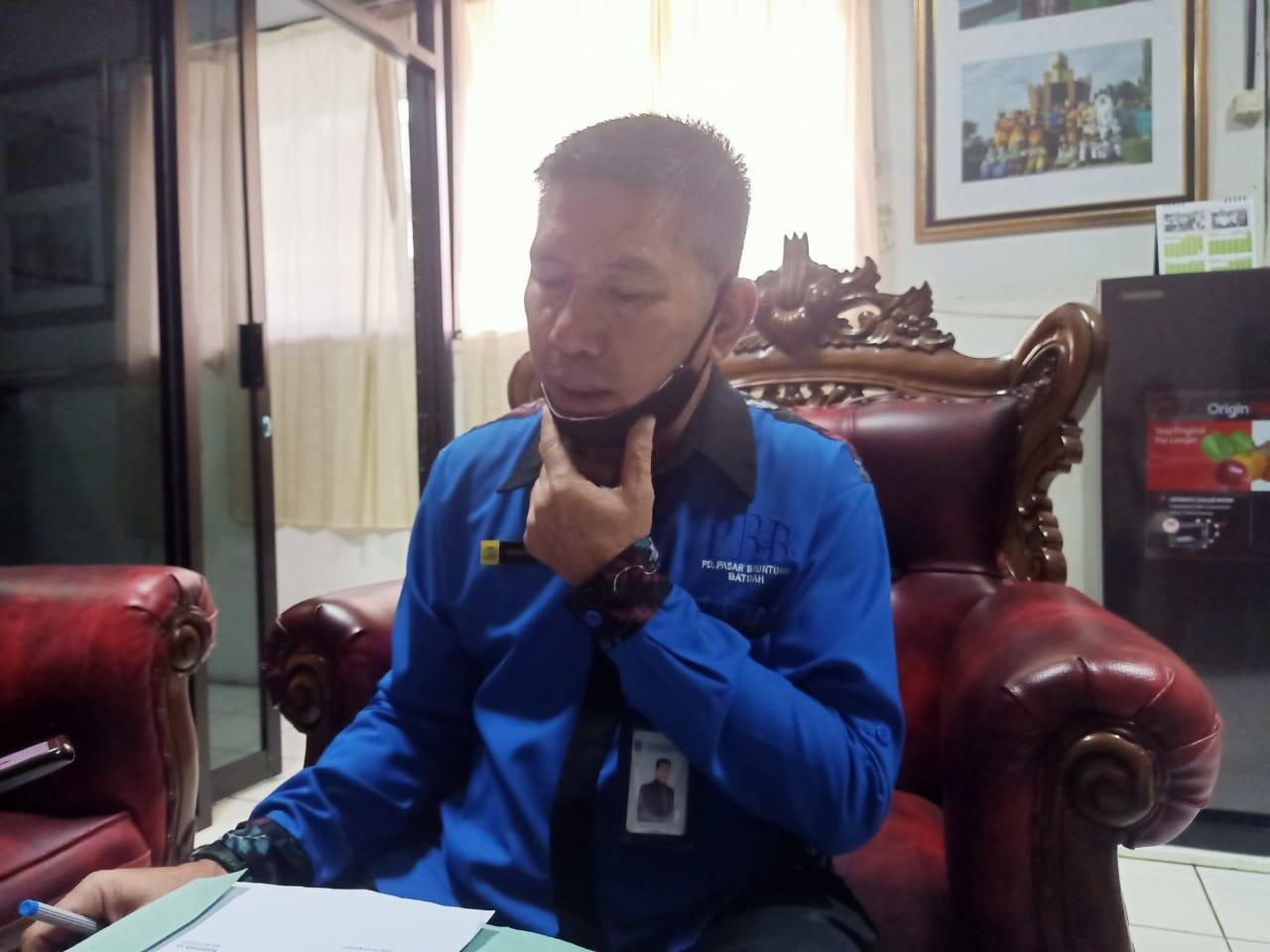 Dampak Pandemi Covid-19, PD PBB Tunda Pasang Portal Di Areal Pasar 4