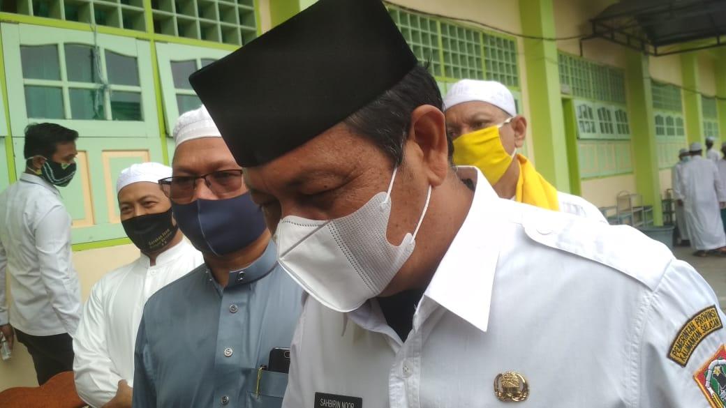 Santri Ponpes Darussalam Dapat Pembagian Masker Dari Gubernur Kalsel 6