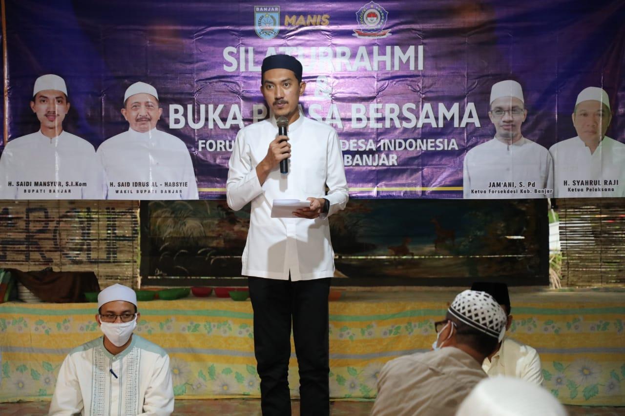 Bupati Banjar Saidi Mansyur berharap desa dibangun dengan lebih kreatif dan menonjolkan potensinya