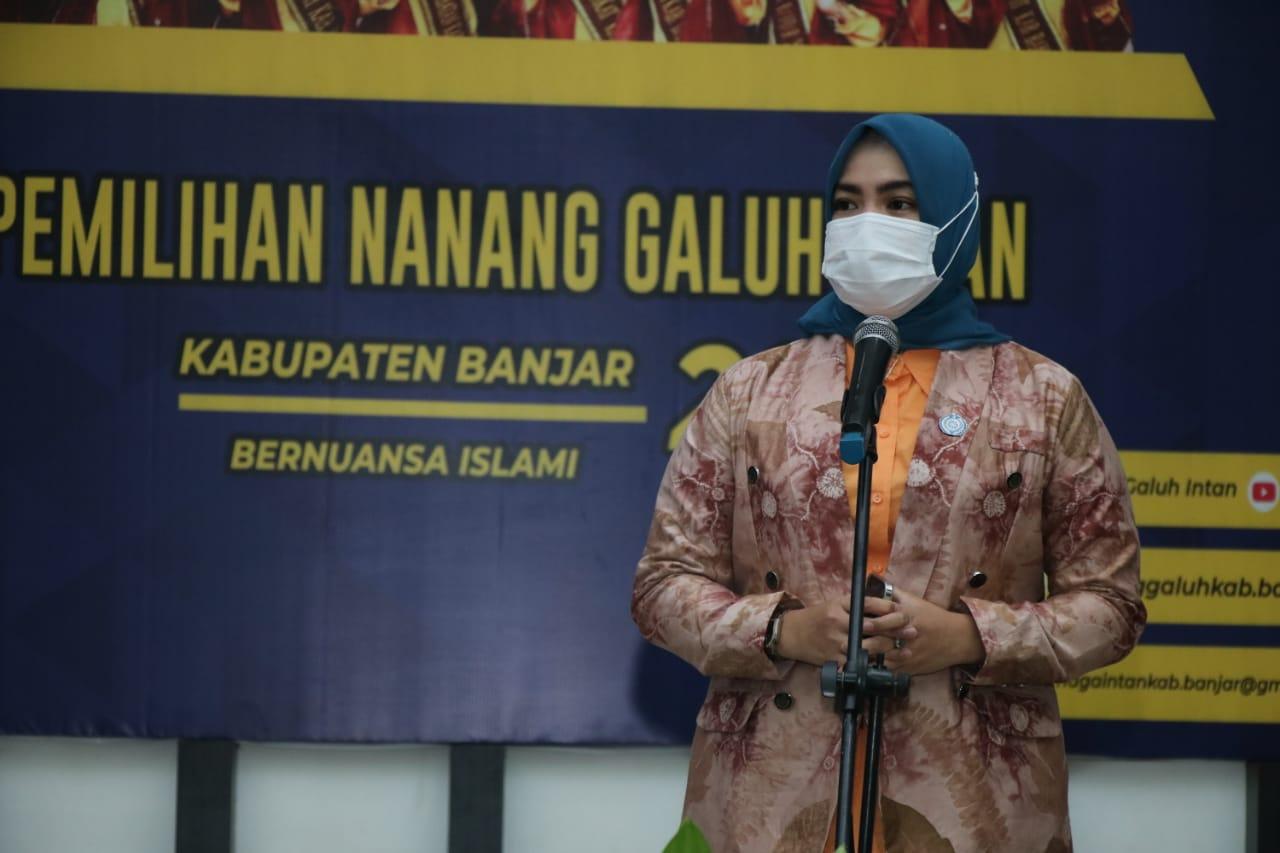 Audisi Nanang Galuh Intan Banjar ini dibuka langsung oleh Ketua TP PKK Kabupaten Banjar Nurgita Tiyas